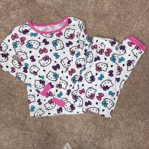 Hello kitty thermal pajamas euc size 8
